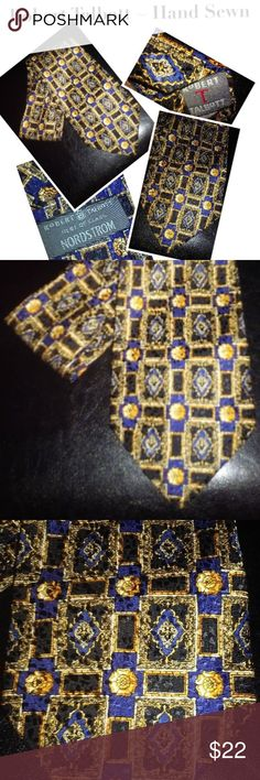 "Robert Talbott Best of Class Nordstrom Tie Robert Talbott Best of Class Nordstrom Men's Blue Silk Handprinted Print Tie in excellent condition.  Appx. 4"" x 58"" Robert Talbott Accessories Ties"
