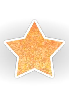 """Yellow and orange zentangles"" Sticker by Savousepate on Redbubble #sticker…"