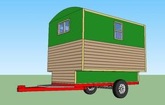 gypsy setup World's smallest house on wheels: Gypsy wagon - Simple Solar Homesteading Build A Camper, Tiny Camper, Small Houses On Wheels, House On Wheels, Driving For Beginners, What Is Glamping, Tattoo Studio Interior, Diy Carport, California Attractions