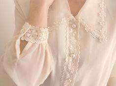 white blouse, lace