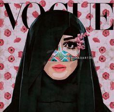 arabic vogue cover of woman with burqa. Arabic Design, Arabic Art, Vogue, Pop Art Women, Modern Pop Art, Political Art, Art Sketchbook, Islamic Art, Collage Art