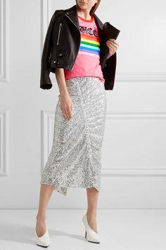 Gucci - Appliquéd Printed Cotton-jersey T-shirt - Pink - large