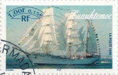 Briefmarke-Europa-Westeuropa-Frankreich-0.15-1999-Cuauhtemoc