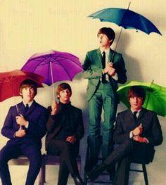 Under my umbrella ;)  The Beatles