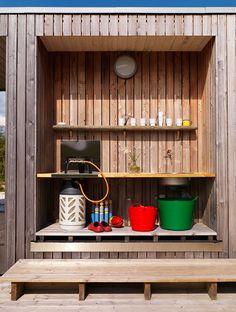 #Architecture #Design #Interior #interiordesign #wood #Cabin #Summer #Sweden #Grebbestad  #Scandinavia #landscape #outdoor #Kitchen #HaraldLode