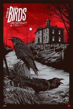 """The Birds by Ken Taylor. 24""""x36"""" screen print. Hand numbered. Edition of 325. Printed by D&L Screenprinting. $45"""