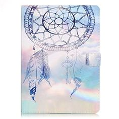 iPad Mini 1/2/3 Case,[White Dream Catcher] Cute Ultra Slim Folio Flip Stand PU Leather Case with Card Slots Protective Cover for Apple iPad Mini 1/2/3 - Brought to you by Avarsha.com