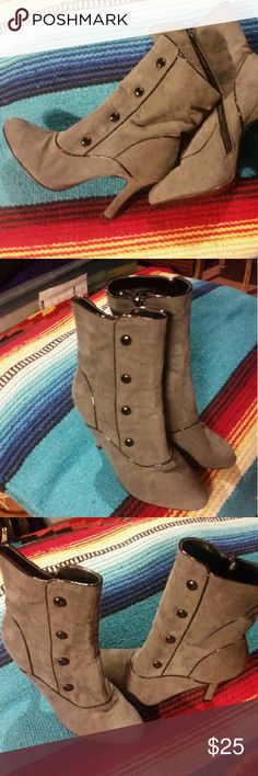 Ladies fashion boots Gray high heel boots Shoes Heeled Boots