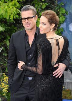Brad Pitt et Angelina Jolies ensemble lors de l'avant première de Maléfique à Londres, le 8 mai 2014