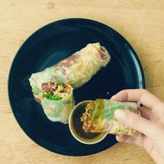 Check out new video Spring #Rolls with Homemade #Korean Bean paste (#Vegan, #LowFat, #Healthy)  https://youtu.be/wgbmbhXZoHY