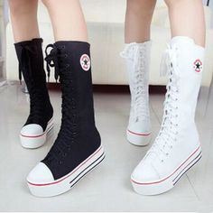 Color: black. white.  Size: eu35=225mm.  eu36=230mm.  eu37=235mm.  eu38=240mm.  eu39=245mm. (please confirm check foot length to pick the right size!)  Fabric material: canvas. Sole material: rubber.   Tips: *Please double check above size and consider your measurements before orde...
