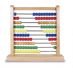 Teach math and fine motor skills with this sturdy and colorful tool! #abacus #math  https://goo.gl/V4dchv