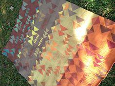Autumn Quilt Modern Quilt Made with Oakshott cottons