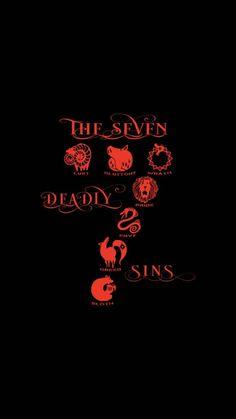 The seven deadly sins Seven Deadly Sins Anime, Tatouage Seven Deadly Sins, Seven Deadly Sins Tattoo, Sin Tattoo, Tattoo Motive, Otaku Anime, Manga Anime, Iphone Seven, Tatoo Manga