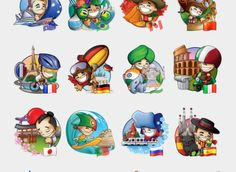 Flags of the World Stickers Set | Telegram Stickers