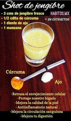 shot de jengibre para una mejor salud