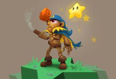 Super Mario RPG fan art of the character Geno. Him and his Star companion are on one hand-painted, self-lit map. Created for the KKG Artbook, a charity art project organized by Gamers for Good in support of Kevin Griffith's battle with cancer. Geno Super Mario Rpg, Super Mario Brothers, Super Mario Bros, Mother Games, Paper Mario, Pop Culture Art, Mario And Luigi, Super Nintendo, Super Smash Bros
