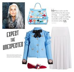 """the unexpected"" by gabrielleleroy ❤ liked on Polyvore featuring Alice + Olivia, Gucci and Dolce&Gabbana"