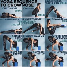 YOGA SEQUENCE TO CROW POSE: When it comes to arm balancing there are 3 factors…