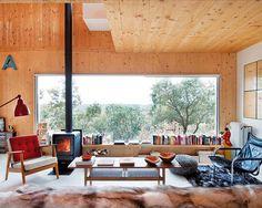 Love the modern retro look. modern woods house cabin design
