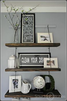 diverse diy suspended shelves that add flavor to your dcor
