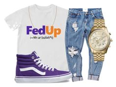 """""""Untitled #108"""" by trillqueen34 ❤ liked on Polyvore featuring OneTeaspoon, Vans and Michael Kors"""