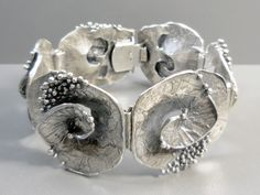Teka modernist abstract silver bracelet Theodor Klotz