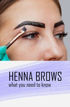 All you need to know about henna brows - Are you thinking about henna brows? Here is our guide on everything you need to know about Henna Brows! Just click the link/'visit' to read all about henna brow tinting! Dye Eyebrows, Henna Eyebrows, Bleached Eyebrows, Permanent Eyebrows, Eyeliner, Eyebrow Makeup, Eye Brows, Eyebrow Tinting Diy, Eyebrow Tips