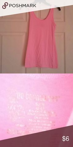 No Boundaries Pink Cami In great condition! Worn only a couple of times with love! Size small 3-5, very stretchy! Great to wear by its self or under another shirt! Bright neon pink!!!! And no stains on this cami!💚💜💚 No Boundaries Tops Camisoles