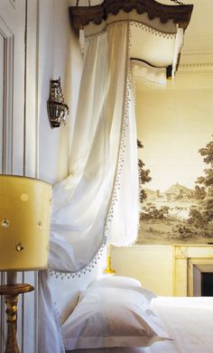 Curtain Ceiling Hanger; I would like to have this curtain hanging from the ceiling at the head of the bed in my guest room. I feel like since in my house it would be a light blue color, it would make your guests feel refreshed right before they went to bed.
