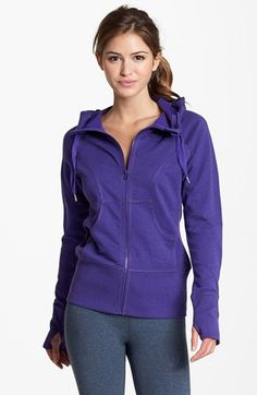 Zella French Terry Hoodie available at #Nordstrom....love this color!! Want one ;)