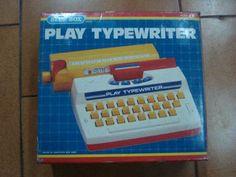 Máquina de escribir juguete #retro awww yo tenía de estas ...