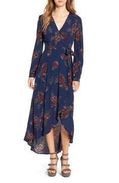 ASTR 'Isabel' Floral Print Wrap Maxi Dress available at #Nordstrom