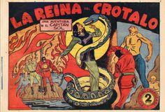 """LOS VIERNES TEBEOS """"La Reina del Crotalo"""" de la serie """"El Capitán Sol"""". Rarísima colección dibujada por uno de los grandes autores del tebeo autóctono José Grau. Serie mítica muy buscada por los coleccionistas. Se trata de la única colección completa que se conoce."""