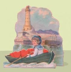 vintage lighthouse valentine