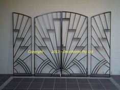 Regent style double courtyard security doors