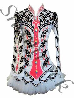 Shamrock Stitchery Irish Dance Solo Dress Costume - So Pretty! Theres a lot going on here yet it pulls together