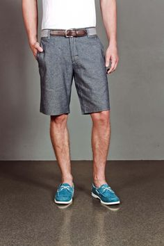 Goodale Perfect Chambray Shorts Slim Fit/ shoes for rob!
