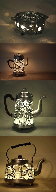 DIY Kettle lamp