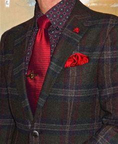 Suitsupply wool plaid suit, Ben Sherman shirt