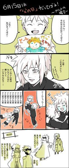 Lil' Naruto draws Minato. ~