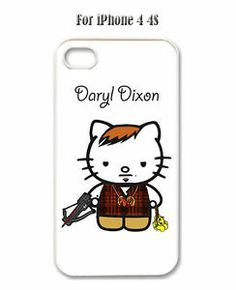 Hello Kitty Daryl Dixon Hard Case Plastic for iPhone 4 4S | eBay