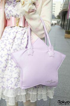 Cute kawaii lolita, fairy kei Angelic Pretty star bag    #cute #kawaii #harajuku #lolita #angelicpretty