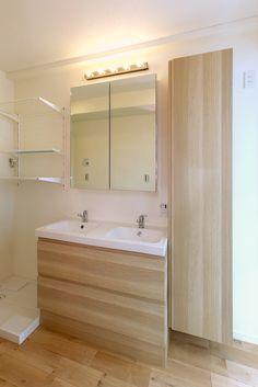 IKEA洗面室リフォーム - 2ボウルタイプ GODMORGON(グモロン)洗面台 ホワイトステインオーク調2