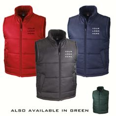 3 Embroidered gilets / bodywarmers for only £50 inc vat and embroidery set up #beyourbrand #pastoffers