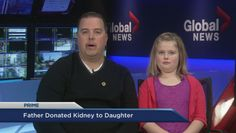 Dad makes life-saving kidney donation to daughter Daughter Videos, Watch News, Lets Celebrate, Fathers, Affair, Dads, Babies, Shit Happens, Children