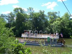 River boat on river on River days 2007 Midland Michigan