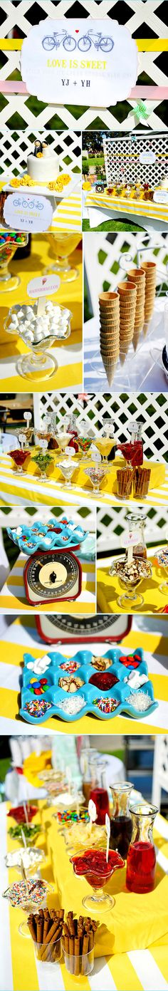 Ice cream bar at a wedding:)