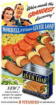 E-Z Serve Liver Loaf | 7 Disgusting Retro Canned Foods That You Won't Believe Existed