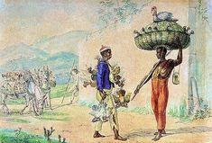 Negros vendendo galinhas e peru, 1820, aquarela sobre papel, 18,80 x 27,60 cm. Museus Castro Maya - IPHAN/MinC (Rio de Janeiro).
